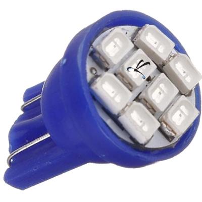 Lampada Pingo T10 8 Leds Smd Azul 12v