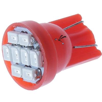 Lampada Pingo T10 8 Leds SMD Vermelha 12v