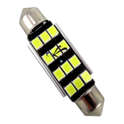 Lampada Torpedo 39mm 12 Leds Smd 2835 Canbus Canceller