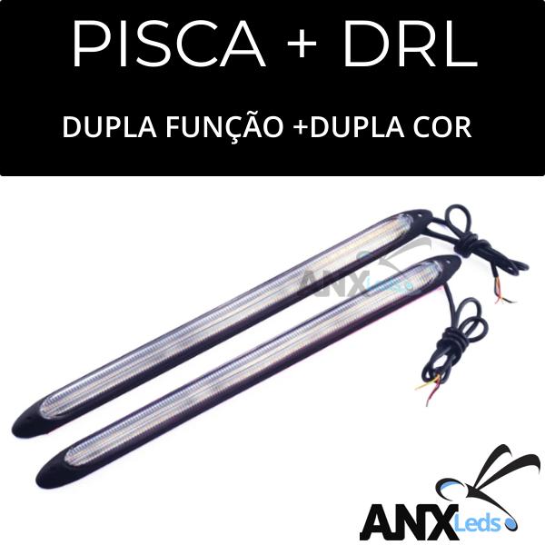 Par Barras Led Drl Flexivel + Funçao Pisca e Especial Drl