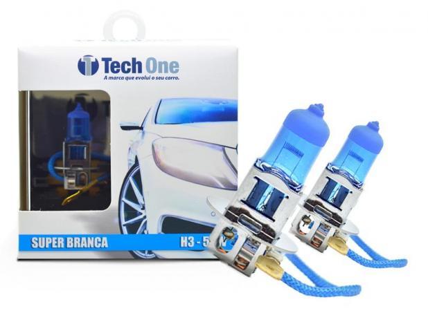 Par Lâmpadas H3 Super Branca Techone 8500k 55w