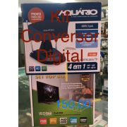 KIT CONVERSOR DIGITAL SET TOP BOX FULL HD 1080P E ANTENA DIGITAL HDTV TV 350 AQUÁRIO