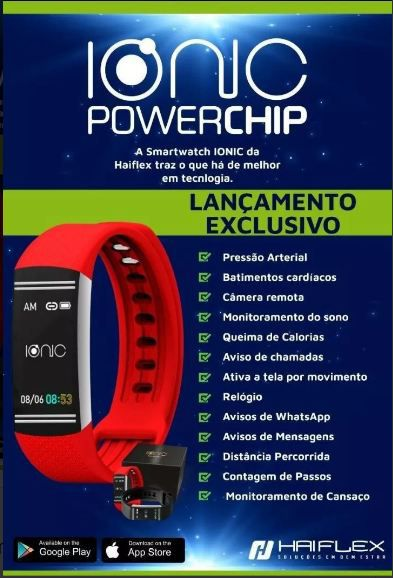 Pulseira Relógio Ionic Power Chip Lpz/haiflex  - HARDER INFORMÁTICA