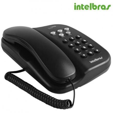 Telefone Intelbras Com Fio Tc 500 - Preto  - HARDER INFORMÁTICA