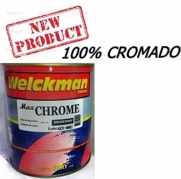 Tinta 100% Cromado Anodizado Cromo 900ml Carro Rodas Moto  - Welckman Tintas