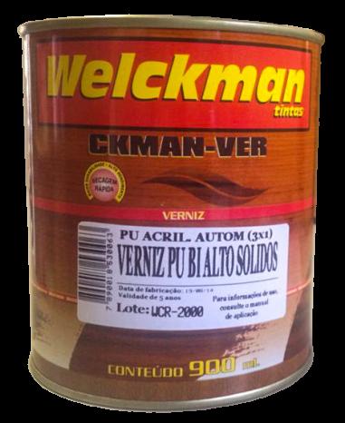 Verniz Automotivo PU BI Alto Sólidos c/ Catalisador (para base Preta)   - Welckman Tintas