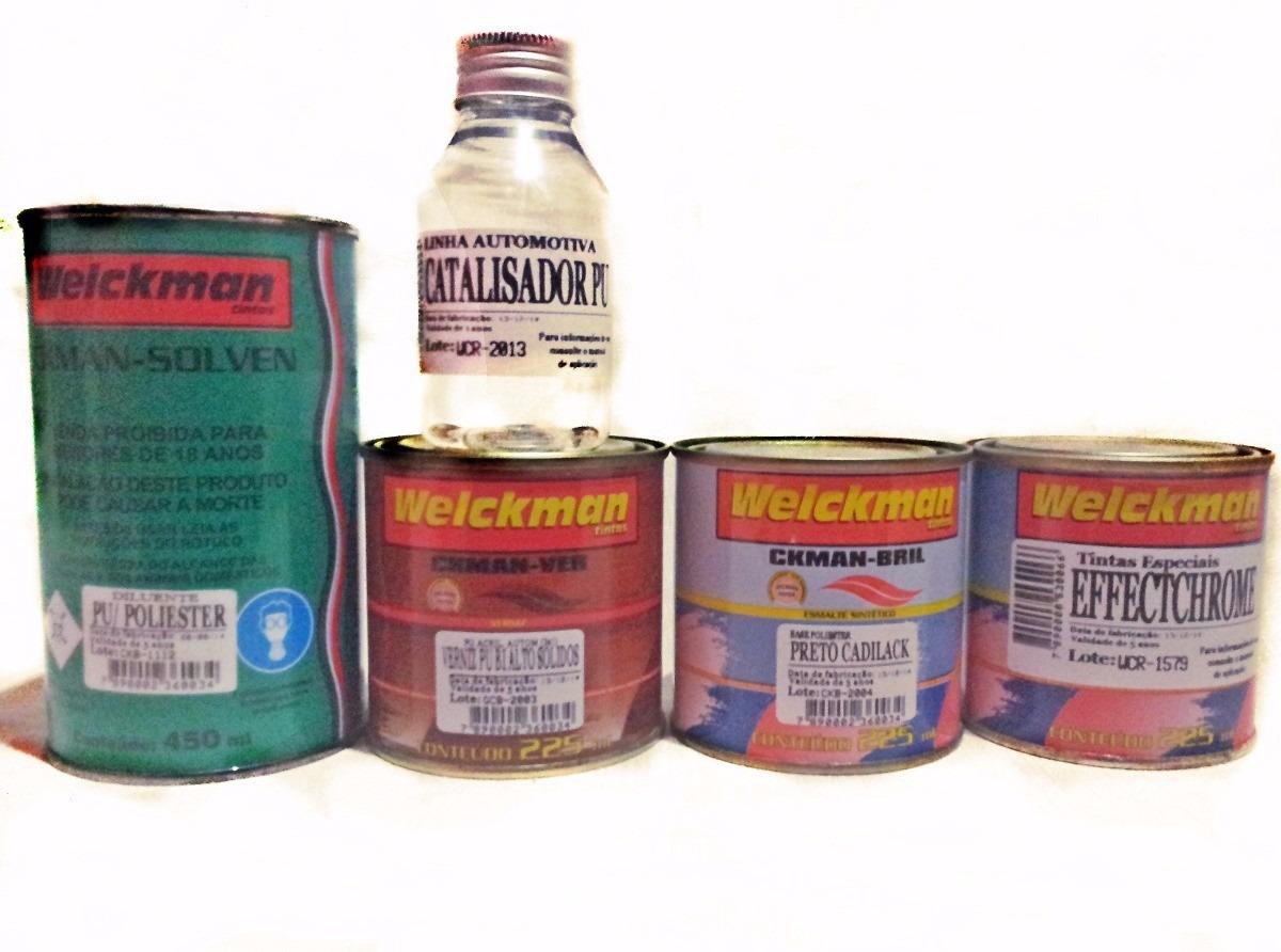 Tinta Efeito Cromado Kit Completo P/ 225ml De Effectchrome®  - Welckman Tintas