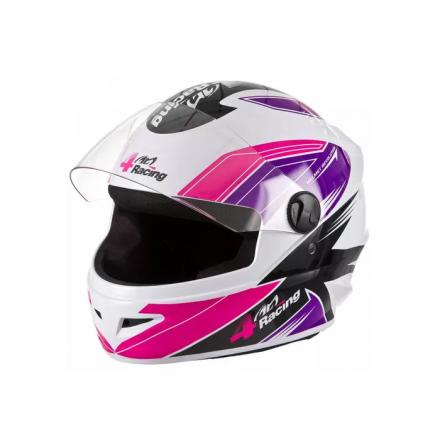 Capacete 4 Racing (Viseira Cristal + Viseira Cromada) Pink/L  - Welckman Tintas