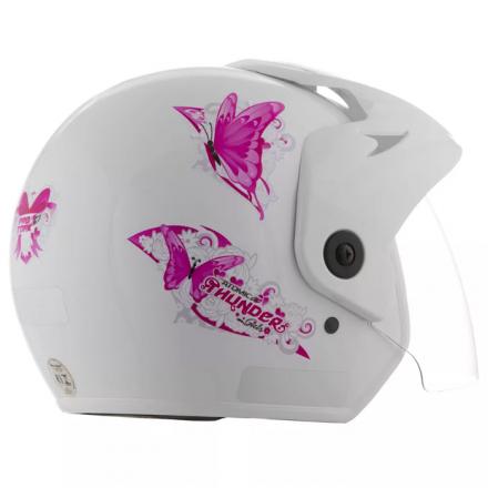 Capacete  Atomic Thunder For Girls Branco | 58 Pro Tork - CA  - Welckman Tintas
