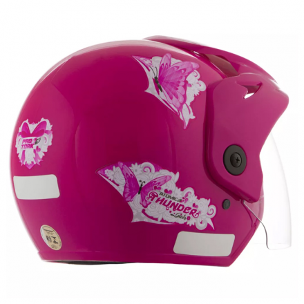 Capacete Feminino Atomic Thunder For Girls Rosa | 56 Pro Tor  - Welckman Tintas