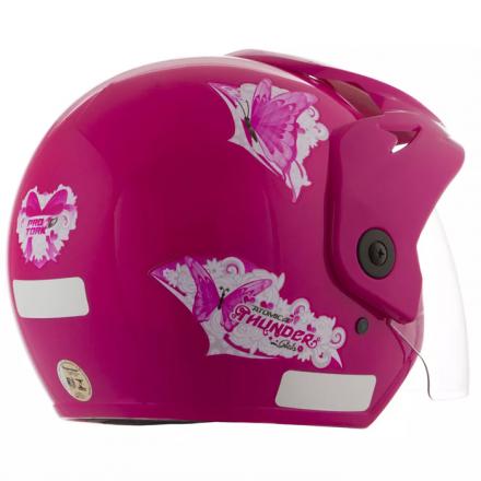 Capacete Feminino Atomic Thunder For Girls Rosa | 58 Pro Tor  - Welckman Tintas