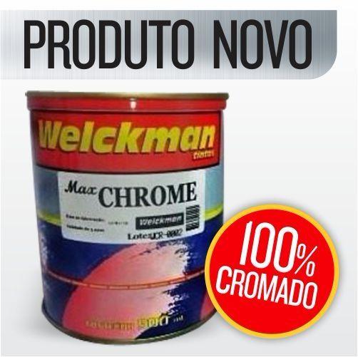 Tinta 100% Cromado Anodizado Cromo 225ml Carro Rodas Moto  - Welckman Tintas
