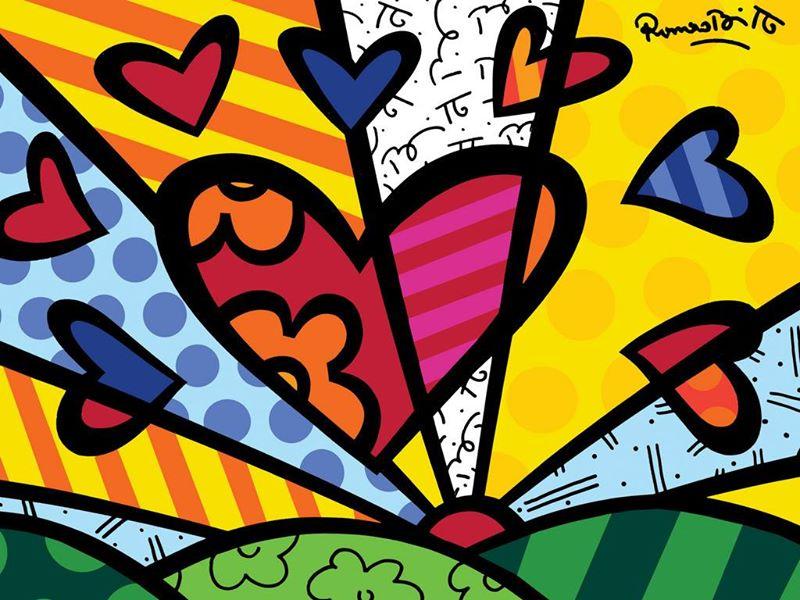 Quadro Romero Britto - A New Day  90 x 100 cm