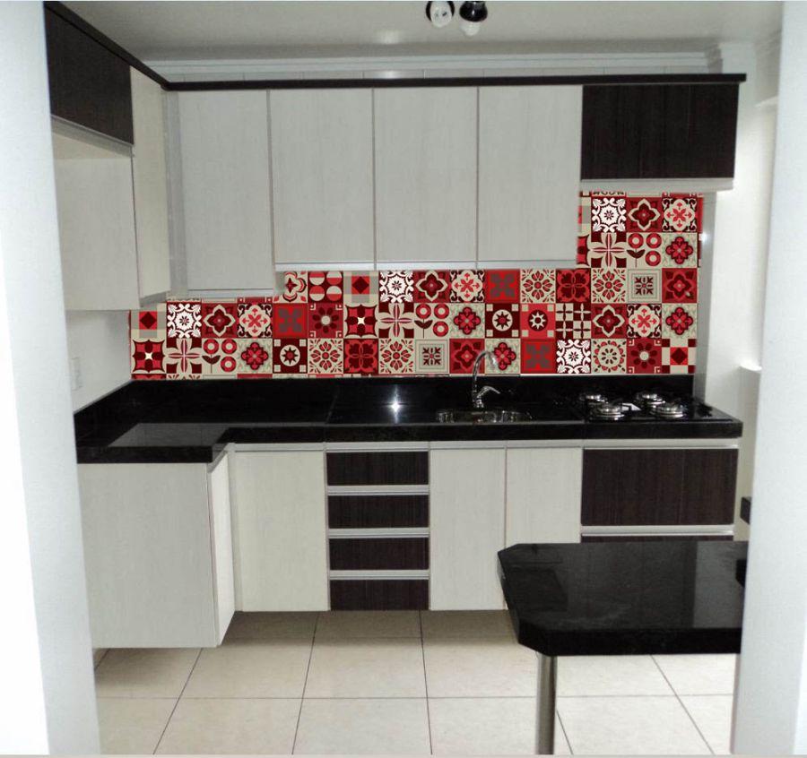Azulejos em adesivo Quadros Decorativos Adesivos e papel de parede  Arte Quadro # Adesivo Em Azulejo De Cozinha