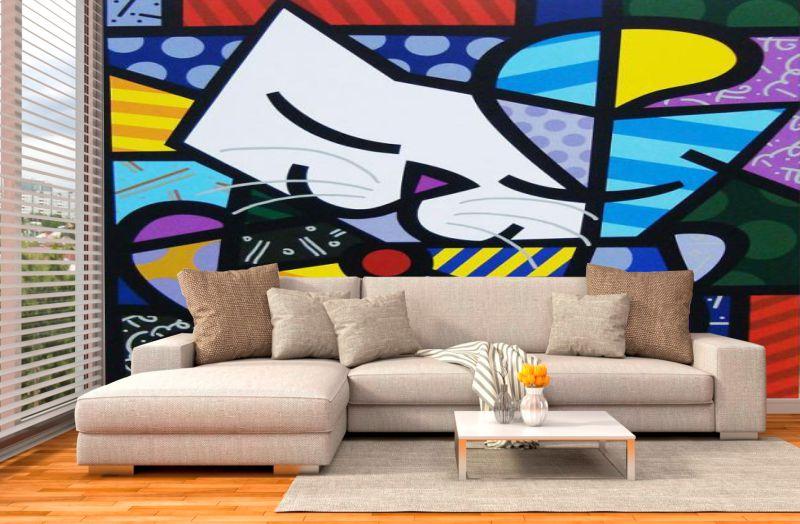 Papel De Parede Quadros Decorativos Adesivos e papel de parede  Arte Quadro