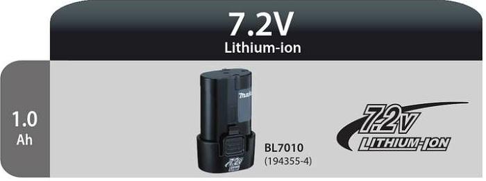 Bateria BL 7010 7,2V Lithium-Ion 1.0 Ah Makita