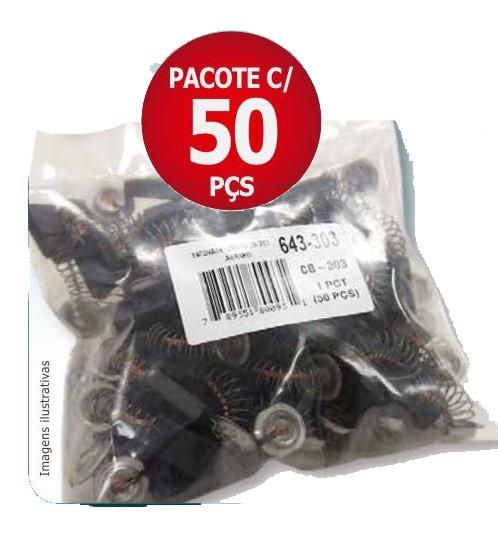 Escova de Carvão Makita Pacote c/ 50 Peças - CB-100
