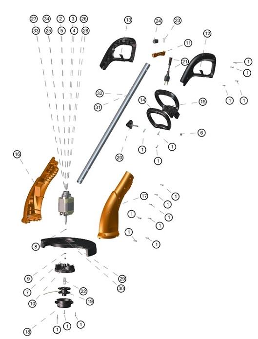 Peças para Aparador de Grama AP 700/800/1000 - TRAMONTINA