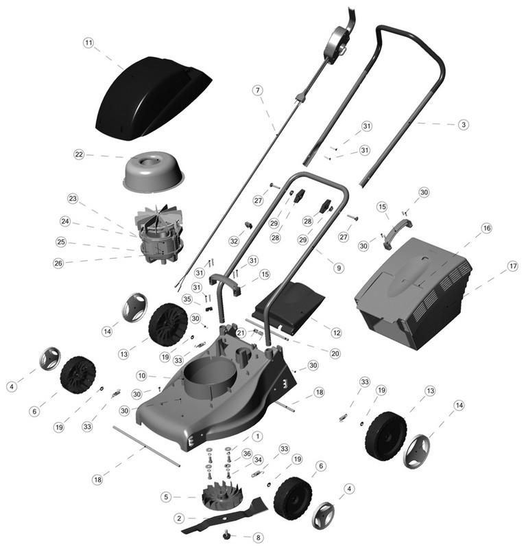 Peças para Cortador de Grama CE-35P - Tramontina