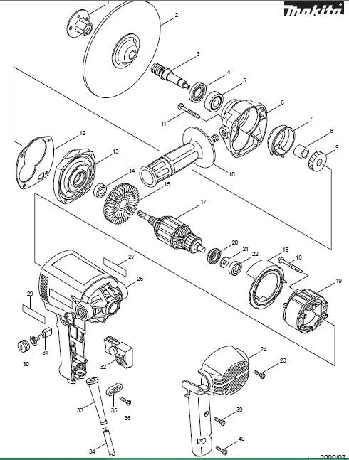 Peças para Lixadeira Vertical 180mm GV 7000 - MAKITA