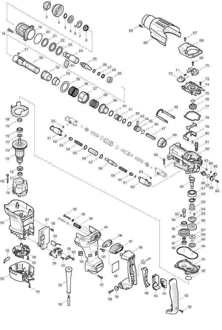 Peças para Martelo Combinado HR 3210C - MAKITA