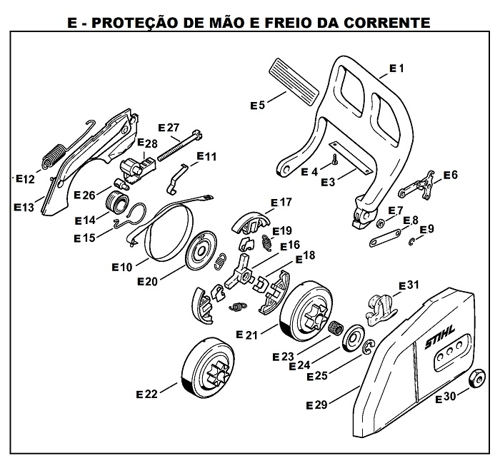 Peças para Motosserra MS 170 - STIHL