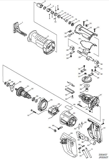Peças para Serra Sabre JR3050T - MAKITA
