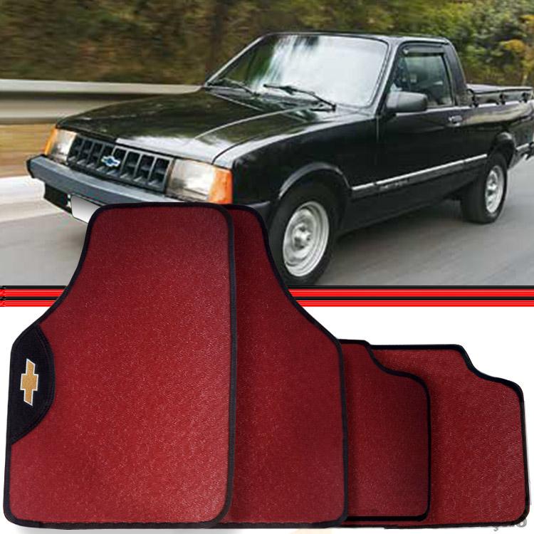 Jogo Tapete Automotivo Carro Chevy-500 Vermelho  - Amd Auto Peças