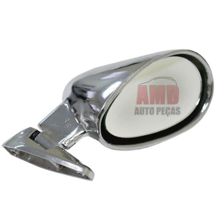 Espelho Retrovisor Universal Fórmula Indy Cromado  - Amd Auto Peças