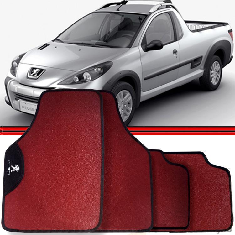 Jogo Tapete Automotivo Carro Peugeot 308 Hoggar Vermelho  - Amd Auto Peças