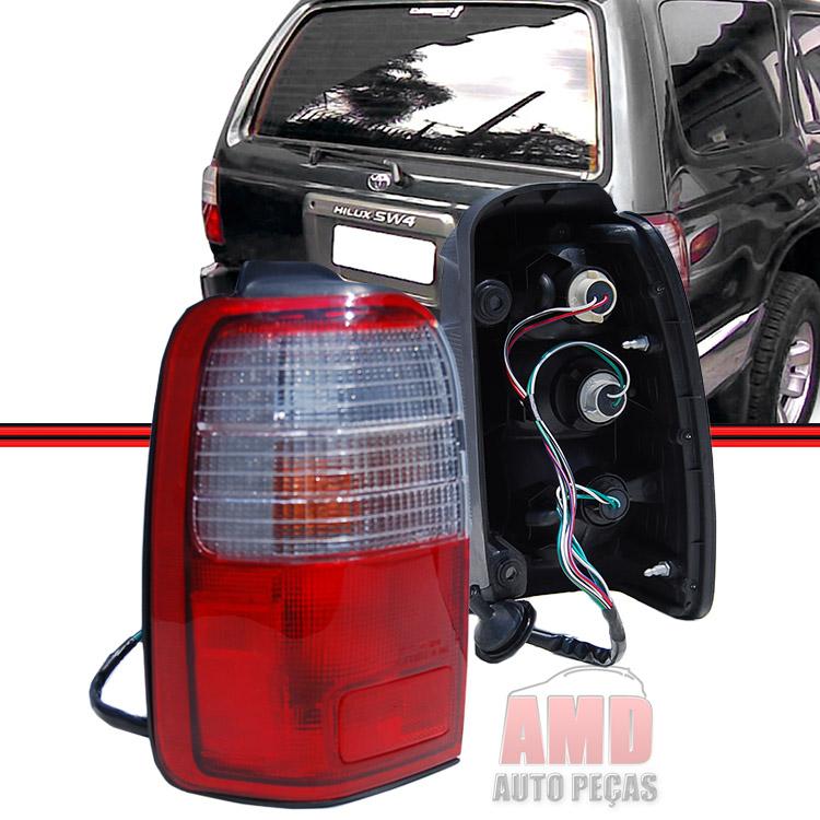 Lanterna Traseira Hilux 96 a 00 Sw4 Bicolor  - Amd Auto Pe�as