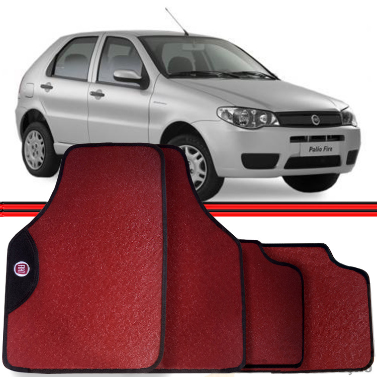Jogo Tapete Automotivo Carro Palio Siena 96 a 10 Vermelho  - Amd Auto Peças