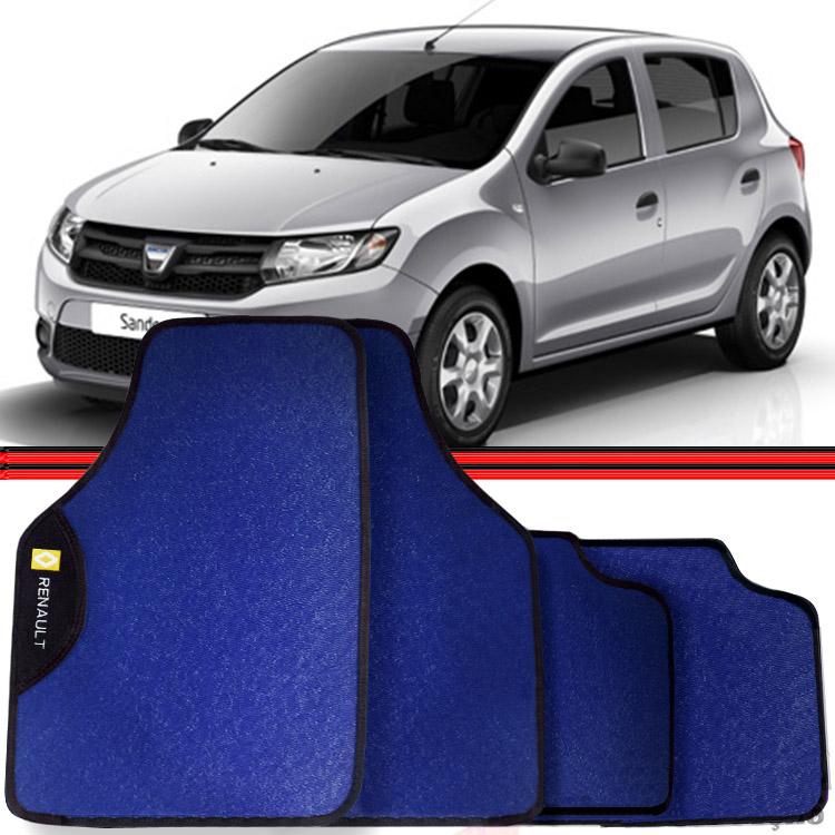 Jogo Tapete Automotivo Carro Sandero Duster Azul  - Amd Auto Peças