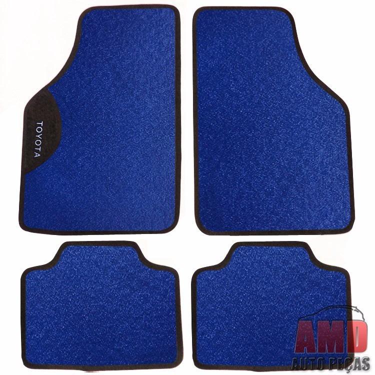 Jogo Tapete Automotivo Carro Fielder Corolla Etios Azul  - Amd Auto Peças