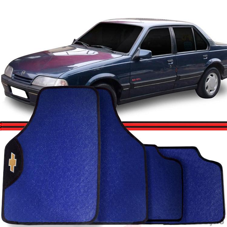 Jogo Tapete Automotivo Carro Monza Bonanza Azul  - Amd Auto Peças