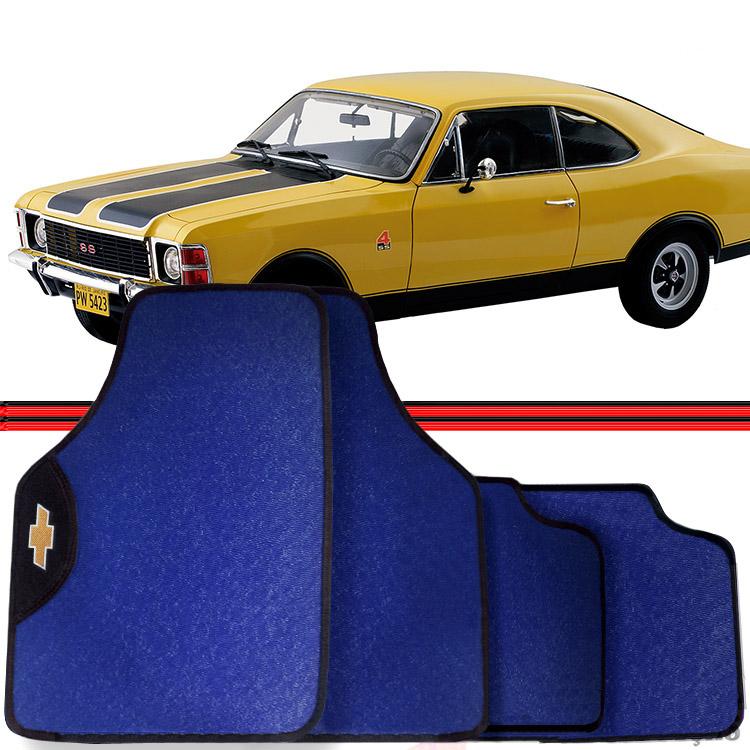 Jogo Tapete Automotivo Carro Opala Caravan 75 a 96 Azul  - Amd Auto Pe�as