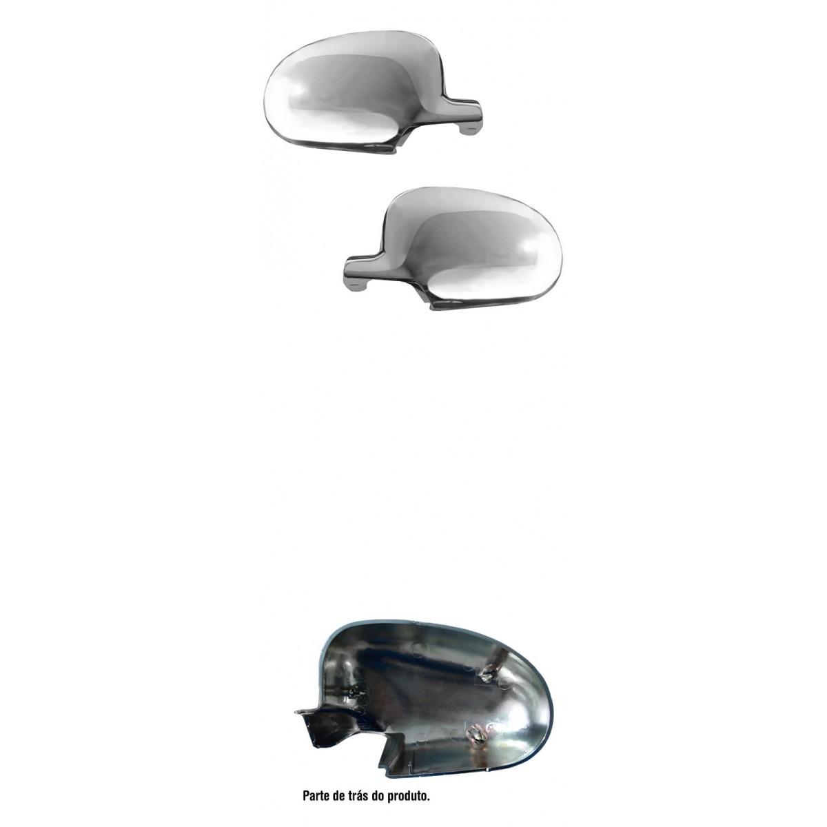 Par Aplique Capa Retrovisor Gol Parati Saveiro GII G2 Bola Cromado  - Amd Auto Peças