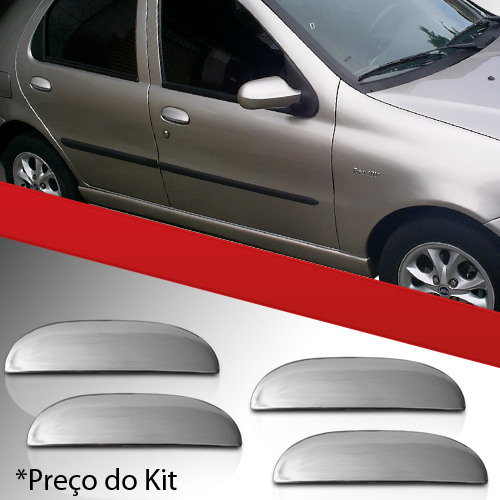 Kit Aplique Maçaneta Palio Siena Weekend 96 a 03 4 Portas  - Amd Auto Peças