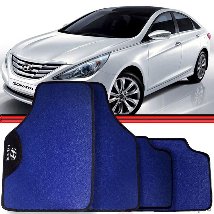 Jogo Tapete Automotivo Carro Elantra Sonata Azul  - Amd Auto Pe�as