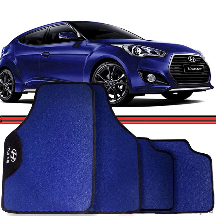 Jogo Tapete Automotivo Carro Veloster Azul  - Amd Auto Peças