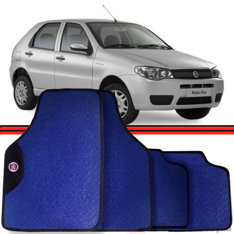 Jogo Tapete Automotivo Carro Palio Siena 96 a 10 Azul  - Amd Auto Pe�as