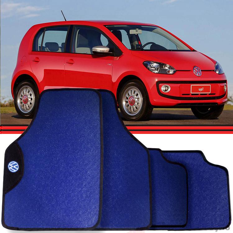 Jogo Tapete Automotivo Carro Up Jetta Azul
