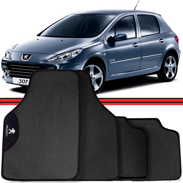 Jogo Tapete Automotivo Carro Peugeot 206 207 307 Cinza  - Amd Auto Peças
