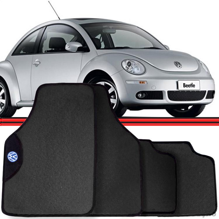 Jogo Tapete Automotivo Carro Golf New Beetle Cinza