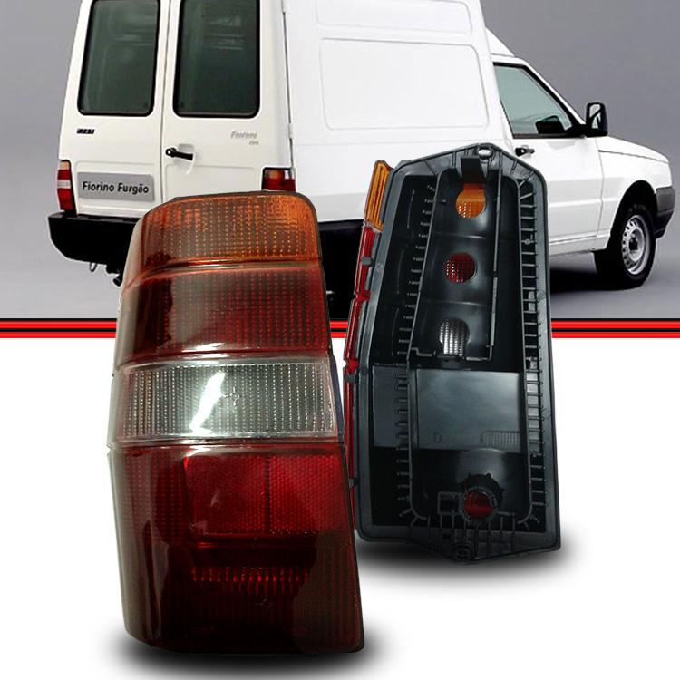 Lanterna Traseira Fiorino 86 a 97 tricolor  - Amd Auto Peças