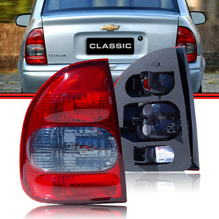 Lanterna Traseira Corsa Sedan Classic 03 a 10 Ré Fume  - Amd Auto Peças