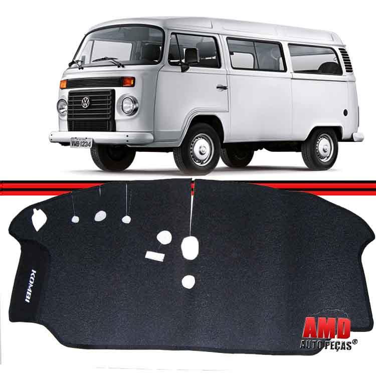Tapete Cabine Kombi Clipper 76 a 96 Kombi Carat 97 a 10 Borracha Preto não Serve nos Modelos com Motor a Àgua  - Amd Auto Peças