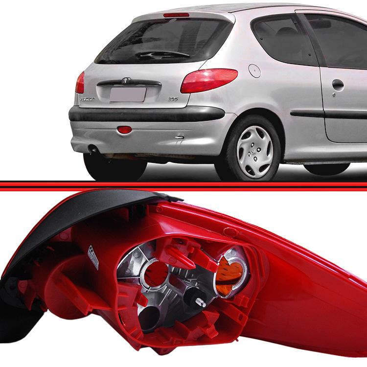 Lanterna Traseira Peugeot 206 04 a 08  - Amd Auto Peças