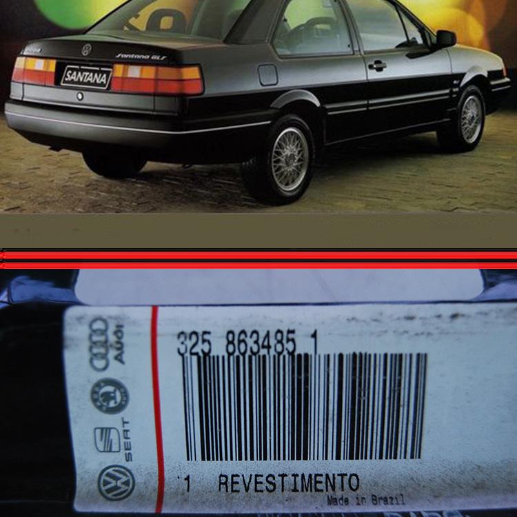 Revestimento Piano Painel Porta Malas Santana 91 a 97 Preta  - Amd Auto Peças