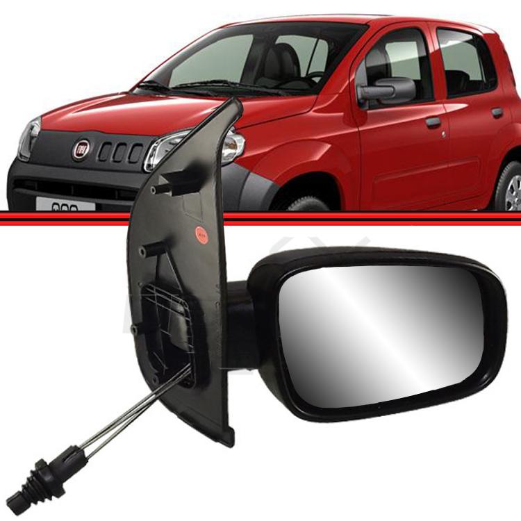 Retrovisor Espelho Uno Vivace 10 a 14 4 Portas Com Controle  - Amd Auto Peças